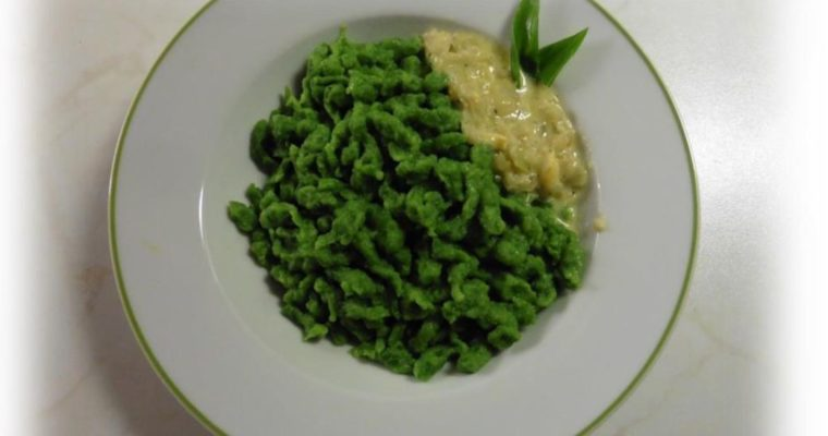 Produkt des Monats: Bärlauch-Spätzle mit Käse-Soße